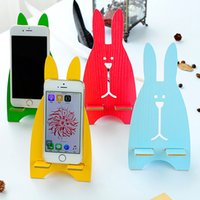 Wholesale Creative mobile phone cute cartoon rabbit modeling phone rack mobile phone digital stent computer flat