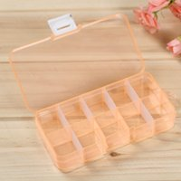 Sundries band organizer - New Plastic Grids Pill Box Craft Organizer Beads Adjustable Jewelry Storage Loom Bands Case WA2104