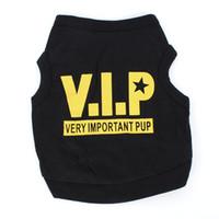 Щенок Собаки Кот VIP Pattern Одежда Футболка плюшевый Pet хлопка костюм Топы Одежда
