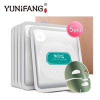 Wholesale Face care YUNIFANG Pure Clarifying Mud Mask Sheet g oil controlling deep cleansing blackhead removerskin care