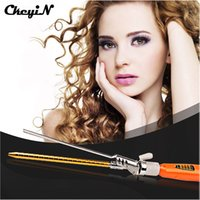 Curl cheveux bouclés cheveux France-Outils tyling Curling Irons CkeyiN Fashion 9MM Deep Curly Hair Styler Curls Ceramic Curling Iron Wave Machine Pro Spiral Hair Curlers Roll ...