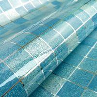 aluminum foil heat insulation - 2m Creative Wall Paper Mosaic Aluminum Foil Self adhensive Anti Oil Wallpaper for Kitchen High Temperature resistant Mosaic