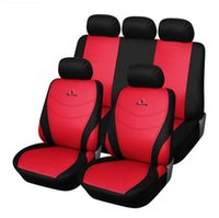 Wholesale New personality car seat cover cloth polyester fabric red Honda Toyota car seat cover for general ford