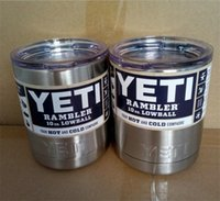 Wholesale 10 oz yeti rambler lowball yeti cup coolers Colsters Stainless Steel cup oz Insulation Cups Rambler Tumbler cup coffee mugs Cars Beer