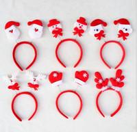Wholesale New Arrive Christmas decorations Santa Claus Fawn headband head buckle Christmas party Headwear