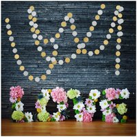 Wholesale Gold and silver round discs High grade pull flowers festive decorations Birthday Wedding party Dress up supplies Home decoration