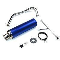 performance scooter exhaust - Scooter Performance Exhaust System Blue Gy6 cc QMB139 Chinese Scooter Parts