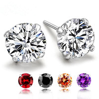 Wholesale Hot silver earrings crystal fashion small sterling silver jewelry for women and girls stud