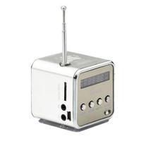 Wholesale New TD V26 Mini LED Music Stereo Speaker MP3 Music Player FM Radio Antenna Receiver USB Altavoz For Phones Computer PC Altavoces