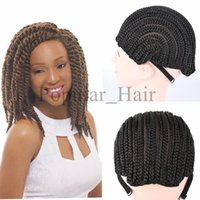 Wholesale Popular Black Cornrow Wig Caps For Making Wigs With Adjustable Strap Braided Cap pack For Wig Cap Crochet Synthetic Braid