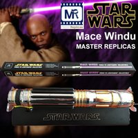 Wholesale MR Star Wars Master Replices Mace Windu Ultimate metal alloy FX Lightsaber LED flash swords purple sound limited edition DHL