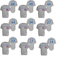 Baseball bank mens - Chicago Cubs Turn Back The Clock Grey Mens Jerseys Rizzo Lester Russell Arrieta Soler Banks Bryant Sandberg