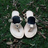 Vente en gros Sandales en tissu à l'élastique à la main en blanc Sandales à disque Sandales à la plage en caoutchouc Sole Taille des États-Unis 6-11 Avec 8 couleurs DOM280