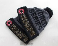 Wholesale Chicago Cubs Beanie Champs Pom Knit Hats World Series Sports Caps For Men Women Top Quality Winter Wool Beanies