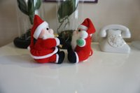 Wholesale New design hot sale Christmas tree ornaments mini Santa Claus Decorations Hanging Ornaments red tiny santa dolls