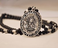 asian elephant pictures - New fashion women and men Thailand auspicious Buddha Pendant Necklace Beads elephant picture clothing accessories jewelry sweater chains
