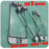 Wholesale Flexiable MOQ For iPhone C S Middle Bezel Frame with OCA Outer Front Glass Lens And Earpiece Mesh Pre Assembled