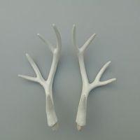 Wholesale Zilin cm white faux deer horn artificial deer antlers a set a pack DIY material creative decor