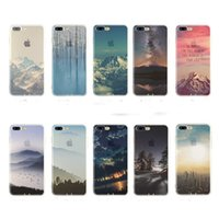 Wholesale Ultra thin Scenery Landscape Printing Silicone Case Cover For Iphone Plus Case s Plus Iphone Case DHL Shipping