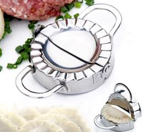 Wholesale New Eco Friendly Pastry Tools Stainless Steel Dumpling Maker Wraper Dough Cutter Pie Ravioli Dumpling Mould Kitchen Accessories