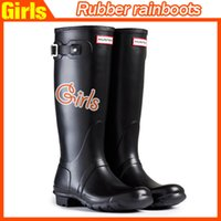 Wholesale New Women Fashion Rubber Rain boots Woman Knee High Waterproof Wellies Rain boots Water Shoes High Quality