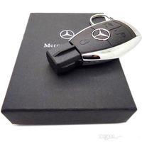 Wholesale 50pcs free dhl real real gbNew Fashion High Speed Mercedes Benz Car Key GB GB GB GB USB Flash Drive