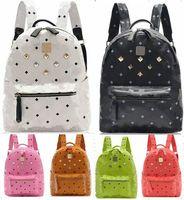 Unisex skull laptop - Fashion Designers Handbags New Brand Backpacks PU Leather Double Shoulder Bag Women Men Sport Mountaineering Bag Laptop Backpack School Bag