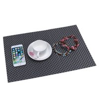 Wholesale 30 X cm set Heat Insulation PVC Platemat Dining Table Kitchen Plate Mat Cup Bowl Pads Coasters