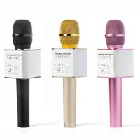Wholesale Q9 Handheld Microphone Wireless KTV With Speaker Mic Handheld For iphone Smartphone Portable Karaoke Player Bluetooth audio