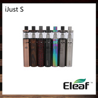 Wholesale iSmoka Eleaf iJust S Kit mah Battery ml iJust S Atomizer Top Filling ohm ECL Head Airflow Control Original