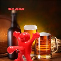 Wholesale New Kitchen Bar Red Fun Happy Man Wine Beer Soda Bottle Openers Multifunction Beer Openers Bottle Novelty Opener