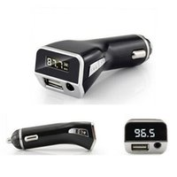 Wholesale 2 A V M81 Car Hands free FM Transmitter AUX Port MP3 Player With Cigarette Lighter USB Auto Charger