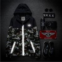 Wholesale 3m reflective jacket men women camouflage jacket windbreaker jaqueta masculina streetwear hip hop military camo sport bomber jacket
