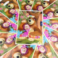 bear birthday supplies - Disposable Plastic Masha Bear Loot Candy Bag Gifts Bags Birthday Party Decoration Kids Favors Baby Shower Supplies