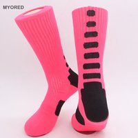 ankle compression - USA Professional Elite Basketball Socks Long tube Knee high crew Athletic Sport Socks Mens Fashion Compression Thermal Winter Socks Meias