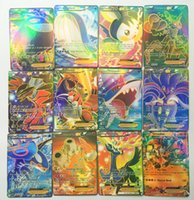 Wholesale 60pcs set Carte Pikachu Cards EX MEGA Carta Charizard Toys Games Playing Poke Card English Kids Gift Collectable