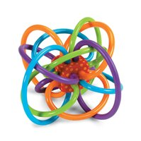 activity toys direct - Manhattan Toy Winkel Solid tooth Molar Rattle Sensory gum activity Practice catch the ball Brand direct supply