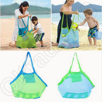 Wholesale Children Baby Outdoor Beach Sandy Toy Clothes Towel Collecting Bags Shoulder Bags Large Space Mesh Bags Handbag Totes CCA5559