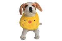 Wholesale Estrella Lovely Pinafo Round Puppy Kitten Scarf Pinafore Neckerchief for Your Baby Pet Yellow Green Color