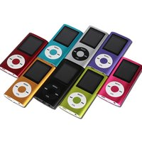 Wholesale 1 inch LCD Screen MP3 MP4 Music Player Metal Housing E Book Reading FM Radio Games Video Player with Charge Cable as Gifts