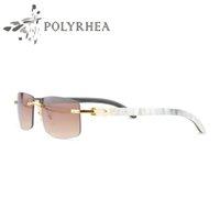 best buffalo - Luxury Sun Glasses Buffalo Horn Glasses Men Women Sunglasses Brand Designer Best Quality White Inside Black Buffalo Horn