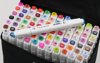 Wholesale Newest TOUCH5 Set Double Headed Art Mark colors touch five Marker Pen with bag colorful Drawing pens brush Christmas DHL Free