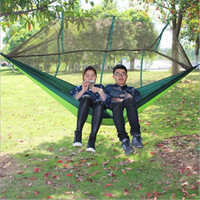 Wholesale Outdoor Multifunctional Double Parachute Cloth Hammock Safety Nets Fall Camping Tourism Anti Mosquito Hammock