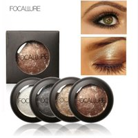 baking shop - 10 Colors Baked Eyeshadow Eye shadow Palette in Shimmer Metallic Eyes Makeup by Focallure Free shopping