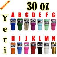 Wholesale 2017 Multi colored YETI Mugs oz Cups Stainless Steel Yeti Rambler Tumbler Travel Vehicle Beer Mug Tumblerful Bilayer Vacuum Insulated