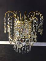 Wholesale Manufacturers selling European creative crystal wall lamp room led headboard lamp