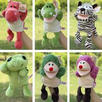 Wholesale New arrival plush puppet toys animal hand puppets Baby loves doll Parent child games toys turtle Civet cat selephant orangutans