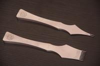 achat en gros de outils de cuir bricolage-Bricolage en cuir à la main des outils artisanaux pincement des fers stiching ciseau ensembles pour un bon polonais 2 + 8 dents