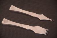 al por mayor herramientas de bricolaje de cuero-Herramientas de artesanía artesanal de cuero de bricolaje pinchazos hierros stiching cincel establece para un buen pulimento 2 + 8 dientes