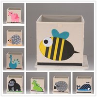 Wholesale Hot selling Cartoon storage boxes for kids Folding storage bins Christmas tin box gift free DHL